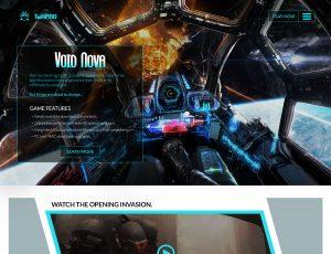 VOID NOVA Game Website