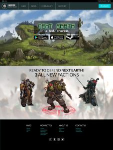 NEXT EARTH Game Website
